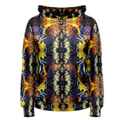 Mystic Yellow Blue Ornament Pattern Women s Pullover Hoodie by Costasonlineshop