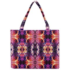 Mystic Red Blue Ornament Pattern Mini Tote Bag by Costasonlineshop