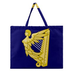 Royal Standard Of Ireland (1542 1801) Zipper Large Tote Bag by abbeyz71