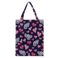 Elephant Lover Hearts Elephants Classic Tote Bag by BubbSnugg