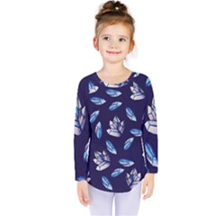 Mystic Crystals Witchy Vibes  Kids  Long Sleeve Tee by BubbSnugg