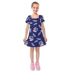 Mystic Crystals Witchy Vibes  Kids  Short Sleeve Velvet Dress by BubbSnugg