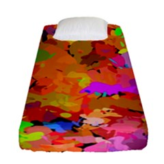 Colorful Shapes            Fitted Sheet (single Size) by LalyLauraFLM