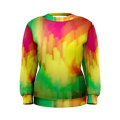 Pastel Shapes Painting             Women s Sweatshirt by LalyLauraFLM