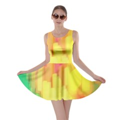 Pastel Shapes Painting            Skater Dress by LalyLauraFLM