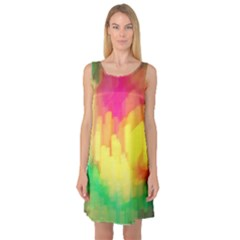 Pastel Shapes Painting            Sleeveless Satin Nightdress by LalyLauraFLM