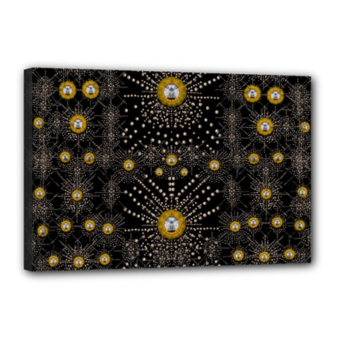 Lace Of Pearls In The Earth Galaxy Pop Art Canvas 18  X 12  by pepitasart