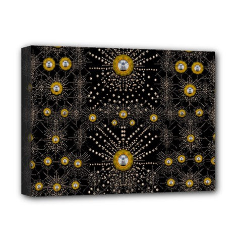 Lace Of Pearls In The Earth Galaxy Pop Art Deluxe Canvas 16  X 12   by pepitasart