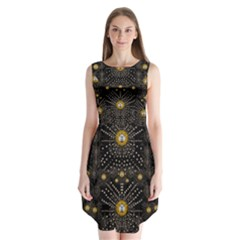 Lace Of Pearls In The Earth Galaxy Pop Art Sleeveless Chiffon Dress   by pepitasart