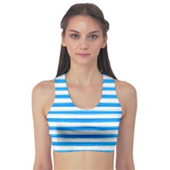 Stripes Print Designs 1 Sports Bra by beatbeatwing