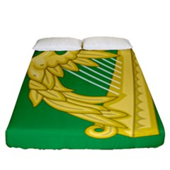 The Green Harp Flag Of Ireland (1642 1916) Fitted Sheet (queen Size) by abbeyz71