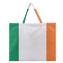 Flag Of Ireland  Zipper Large Tote Bag by abbeyz71