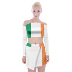 Flag Of Ireland  Off Shoulder Top With Skirt Set by abbeyz71