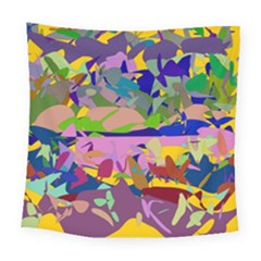 Shapes In Retro Colors             Fleece Blanket by LalyLauraFLM