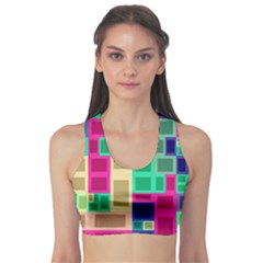 Rectangles And Squares        Women s Sports Bra by LalyLauraFLM