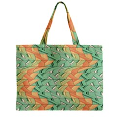 Emerald And Salmon Pattern Mini Tote Bag by linceazul