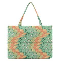 Emerald And Salmon Pattern Medium Zipper Tote Bag by linceazul