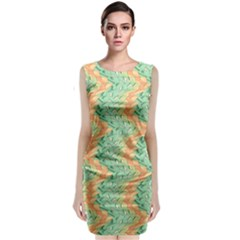 Emerald And Salmon Pattern Classic Sleeveless Midi Dress by linceazul