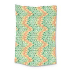 Emerald And Salmon Pattern Small Tapestry by linceazul