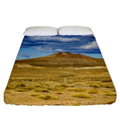 Patagonian Landscape Scene, Argentina Fitted Sheet (california King Size) by dflcprints