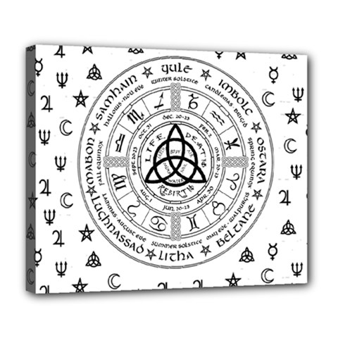 Witchcraft Symbols  Deluxe Canvas 24  X 20