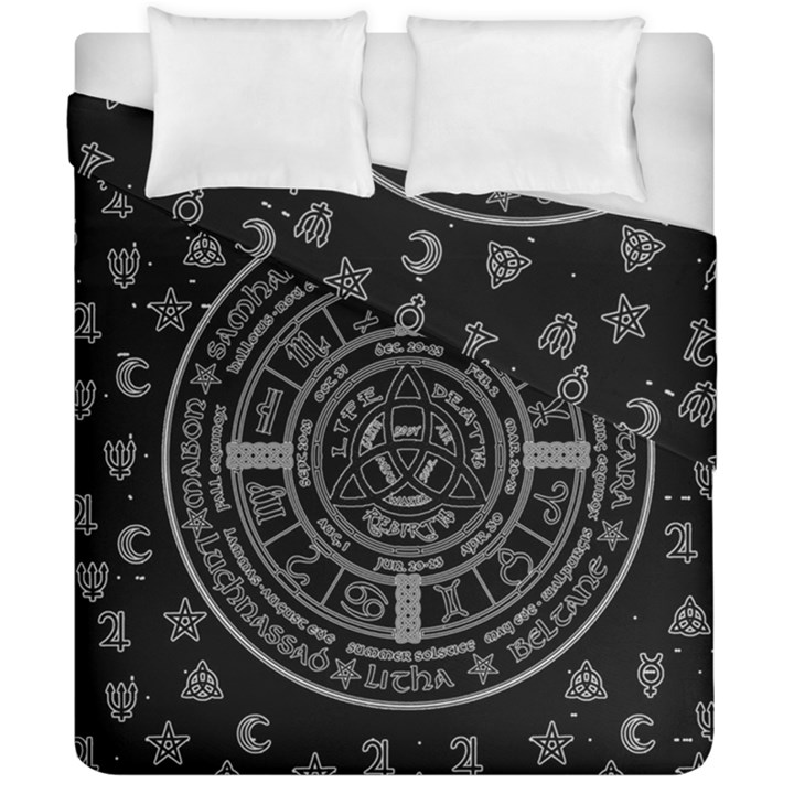 Witchcraft symbols  Duvet Cover Double Side (California King Size)