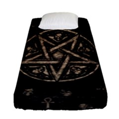 Witchcraft Symbols  Fitted Sheet (single Size) by Valentinaart