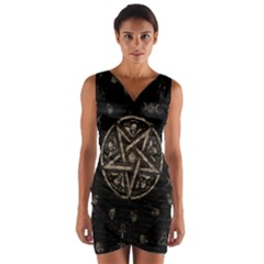 Witchcraft Symbols  Wrap Front Bodycon Dress by Valentinaart