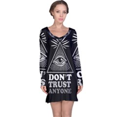 Illuminati Long Sleeve Nightdress by Valentinaart