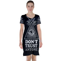Illuminati Short Sleeve Nightdress by Valentinaart