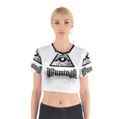 Illuminati Cotton Crop Top by Valentinaart