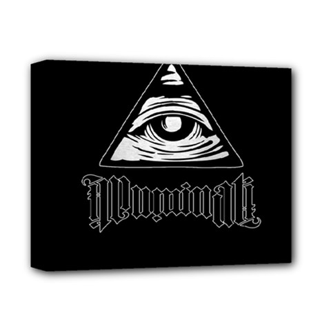Illuminati Deluxe Canvas 14  X 11  by Valentinaart