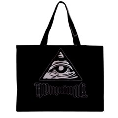Illuminati Medium Zipper Tote Bag by Valentinaart