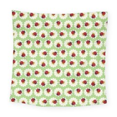 Ladybugs Pattern Square Tapestry (large) by linceazul