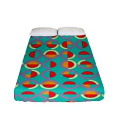 Semicircles And Arcs Pattern Fitted Sheet (full/ Double Size) by linceazul