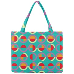Semicircles And Arcs Pattern Mini Tote Bag by linceazul