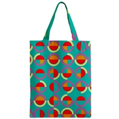 Semicircles And Arcs Pattern Classic Tote Bag by linceazul