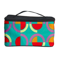 Semicircles And Arcs Pattern Cosmetic Storage Case by linceazul