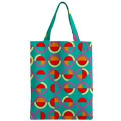 Semicircles And Arcs Pattern Zipper Classic Tote Bag by linceazul