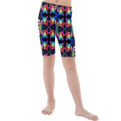 Colorful Bright Seamless Flower Pattern Kids  Mid Length Swim Shorts by Costasonlineshop