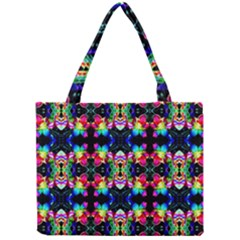 Colorful Bright Seamless Flower Pattern Mini Tote Bag by Costasonlineshop