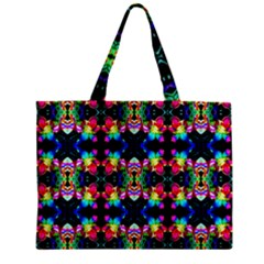 Colorful Bright Seamless Flower Pattern Zipper Mini Tote Bag by Costasonlineshop