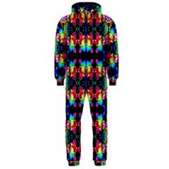 Colorful Bright Seamless Flower Pattern Hooded Jumpsuit (men)  by Costasonlineshop