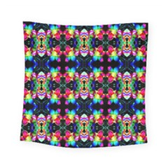Colorful Bright Seamless Flower Pattern Square Tapestry (small)