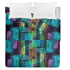 Abstract Square Wall Duvet Cover Double Side (queen Size) by Costasonlineshop