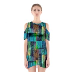 Abstract Square Wall Shoulder Cutout One Piece by Costasonlineshop