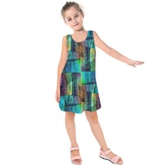 Abstract Square Wall Kids  Sleeveless Dress by Costasonlineshop