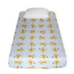 Spaceships Pattern Fitted Sheet (single Size) by linceazul