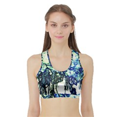 Colors Sports Bra With Border by Valentinaart