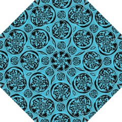 Turquoise Pattern Folding Umbrellas by linceazul